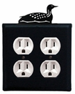 Double Outlet Cover, Loon, Wrought Iron