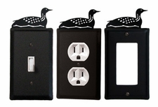 OUTLET, GFI, SWITCH COVERS, LOON / DUCK, WROUGHT IRON