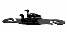 Wine for Two, Wine Glass Holder, Loon / Duck, Wrought Iron