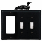 GFI and Double Switch Cover, Loon, Wrought Iron
