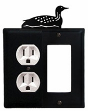 Outlet and GFI Cover, Loon, Wrought Iron