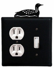 Outlet and Switch Cover, Loon, Wrought Iron