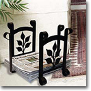 MAGAZINE / NEWSPAPER RACKS, Wrought Iron