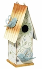 Birdhouse, Metal with Bird Accents, Indoor / Outdoor