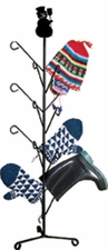 Boot / Mitten Dryer, Snowman, Wrought Iron
