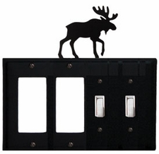 Double GFI & Double Switch Cover, Moose, Wrought Iron