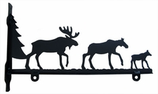 Sign Bracket, Moose Family, Wrought Iron, 36 Inch