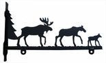 Sign Bracket, Moose Family, Wrought Iron, 24 Inch