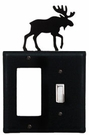 GFI and Switch Cover, Moose, Wrought Iron