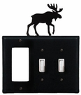 GFI and Double Switch Cover, Moose, Wrought Iron