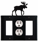 GFI, Outlet and GFI Cover, Moose, Wrought Iron