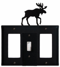 GFI, Switch and GFI Cover, Moose, Wrought Iron