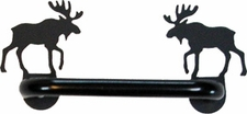 Cabinet Door Handle, Horizontal, Moose, Wrought Iron
