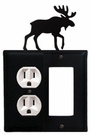 Outlet and GFI Cover, Moose, Wrought Iron