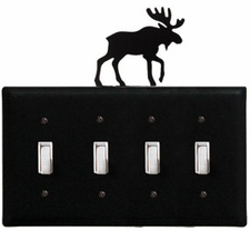 Quad Switch Cover, Moose, Wrought Iron