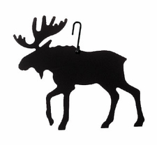 Moose Silhouette, Hanging Art, Wrought Iron