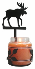 Wall Sconce, Candle Jar Holder, Moose, Wrought Iron