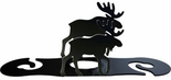 Wine for Two, Wine Glass Holder, Moose, Wrought Iron