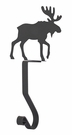 Stocking Hanger, Mantel Hook, Moose, Wrought Iron