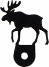 Silhouette for Cabinet Door, Moose, Black Wrought Iron