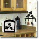 NAPKIN HOLDERS, WROUGHT IRON, INDOOR, OUTDOOR