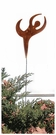 Lawn / Garden Stake, Dancer, Rusted, Natural