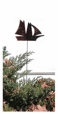 Lawn / Garden Stake, Ship, Rusted, Natural