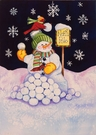 Garden Flag, Christmas, Snowman, Snowball Fight, North Pole