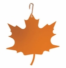 Orange Maple Leaf, Hanging Art, Wrought Iron