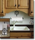 PAPER TOWEL HOLDERS, WROUGHT IRON, WALL & COUNTER TOP