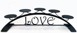 Pillar Candle Holder, LOVE Design, Wrought Iron