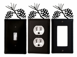 OUTLET, GFI, SWITCH COVERS, PINECONES, WROUGHT IRON