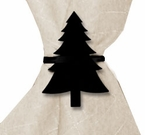 Napkin Ring, Wrought Iron, Pine Tree, Set of 4