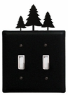 Double Switch Cover, Pine Trees, Wrought Iron