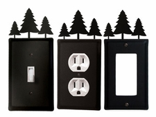 OUTLET, GFI, SWITCH COVERS, PINE TREES, WROUGHT IRON