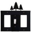 GFI, Switch and GFI Cover, Pine Trees, Wrought Iron