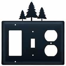 GFI, Switch and Outlet Cover, Pine Trees, Wrought Iron