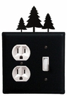 Outlet and Switch Cover, Pine Trees, Wrought Iron
