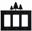 Triple GFI Cover, Pine Trees, Wrought Iron