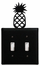 Double Switch Cover, Pineapple, Wrought Iron