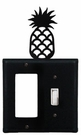 GFI and Switch Cover, Pineapple, Wrought Iron