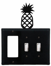GFI and Double Switch Cover, Pineapple, Wrought Iron