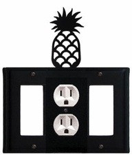 GFI, Outlet and GFI Cover, Pineapple, Wrought Iron