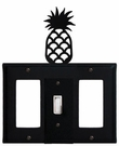 GFI, Switch and GFI Cover, Pineapple, Wrought Iron