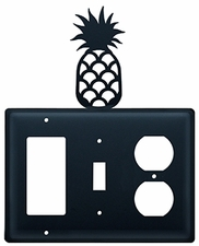 GFI, Switch and Outlet Cover, Pineapple, Wrought Iron