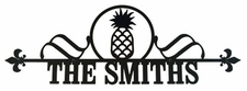 Custom House Plaque / Sign, Wrought Iron, Pineapple