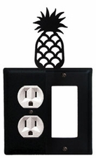 Outlet and GFI Cover, Pineapple, Wrought Iron