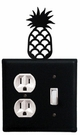 Outlet and Switch Cover, Pineapple, Wrought Iron
