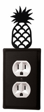 Outlet Cover, Pineapple, Wrought Iron