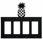 Quad GFI Cover, Pineapple, Wrought Iron